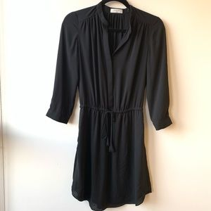Aritzia Babaton Black Dress w/ Tie Waist EUC